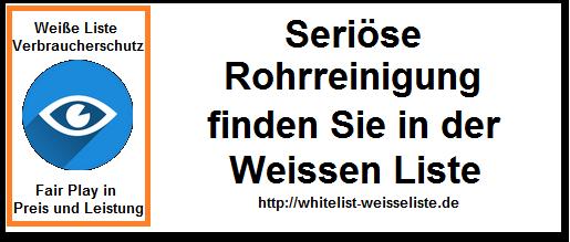 Kanalreinigung Karlsbad - Weisse Liste